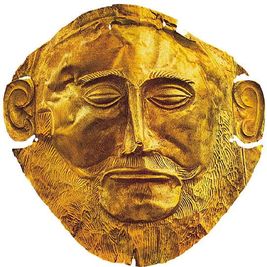 Arte e civilt micenea porta dei leoni maschera di - La porta dei leoni a micene ...