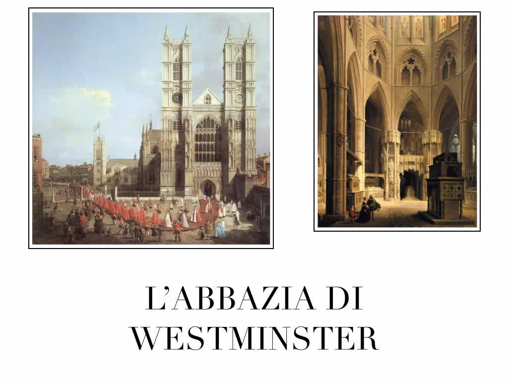 Il gotico e la cattedrale di westminster enrico iii la for Luogo di nozze con cabine